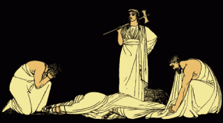 The Murder of Agamemnon, from Stories from the Greek Tragedians (1879)
