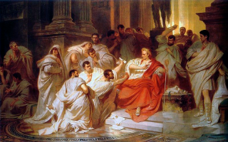 The Murder of Caesar, by Karl Theodor von Piloty (1865).
