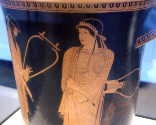 Sappho poems toms learning notes alcaeus and sappho attic red figure kalathos from akragas ca 470 bc fandeluxe Choice Image