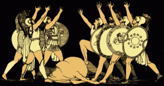 The Oath of the Seven Chiefs, from Stories from the Greek Tragedians (1879).