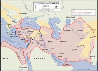 The Persian Empire in 490 BC, from the Department of History - United States Military Academy