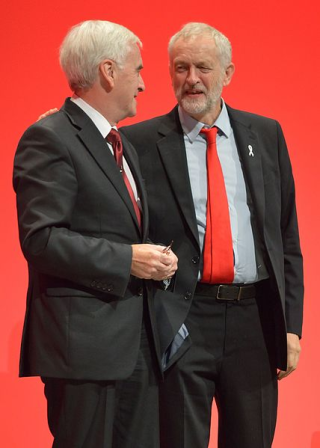 John McDonnell and Jeremy Corbyn at the 2016 Labour conference, Wikimedia.
