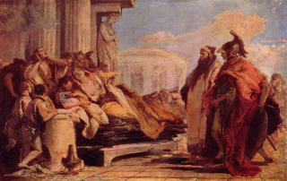 The death of Dido, Giovanni Battista Tiepolo. Wikimedia Commons