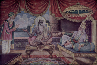 Vyasa grants Sanjaya divine vision. Wikimedia Commons