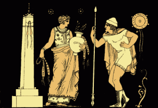 Electra and Orestes, from Stories from the Greek Tragedians (1879).