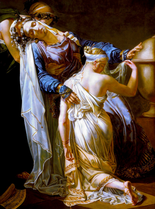 Hecuba and Polyxena, by Merry-Joseph Blondel. Via Wikimedia Commons.