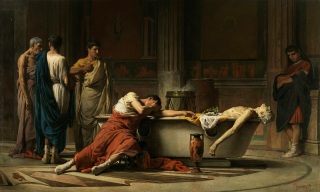 The Death of Seneca, by Manuel Domínguez Sánchez. Via Wikisource.