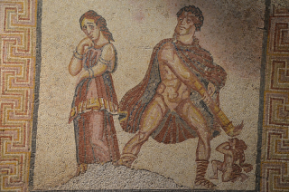 Mosaic of the madness of Heracles from the Villa Torre de Palma. Picture by Carole Raddato, via Wikimedia Commons
