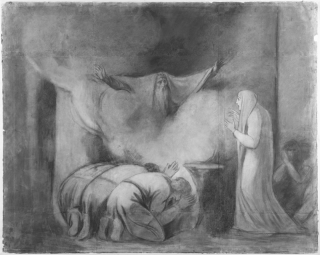 The Ghost of Darius appearing to Atossa, by George Romney