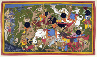 Battle_at_Lanka _Ramayana _Udaipur _1649-53