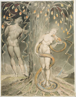 William_Blake_-_The_Temptation_and_Fall_of_Eve_(Illustration_to_Milton's_'Paradise_Lost')_-_Google_Art_Project