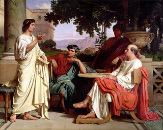 Horace _Virgil_and_Varius_at_the_house_of_Maecenas