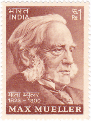 Friedrich_Max_Müller_1974_stamp_of_India